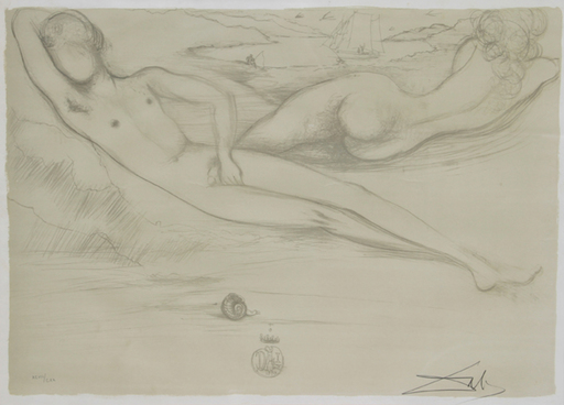 Salvador DALI - Stampa Multiplo - A la Plage from the Nudes Suite