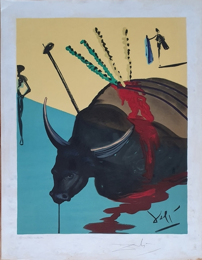 Salvador DALI - Print-Multiple - The Bull is Dead , from Carmen Suit