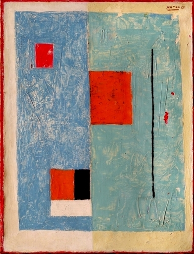 Avraham NATON - Painting - Composition