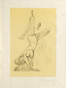 Claes Thure OLDENBURG,  Woman Hanging in Imitation of the Soft Fan (A)