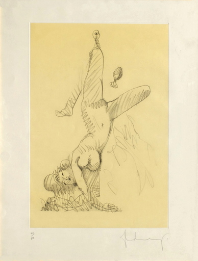 Claes Thure OLDENBURG - Stampa-Multiplo -  Woman Hanging in Imitation of the Soft Fan (A)