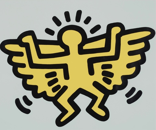 Keith HARING - Estampe-Multiple - Angel from Icons Portfolio