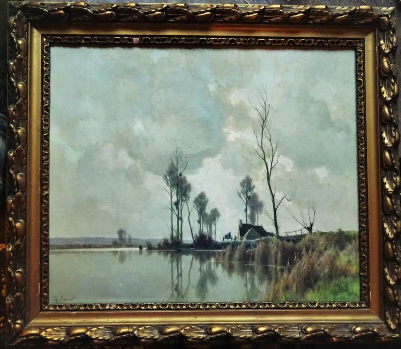 Alexandre JACOB - Peinture - L'éclaircie sur le marais, environs d'Amiens