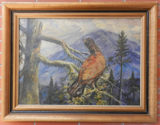 Karol SOVANKA - Painting - Capercaillie in the High Tatras