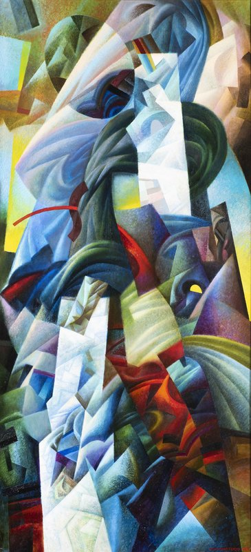 Ivan TURETSKYY - Peinture - Forgotten figure like a dream