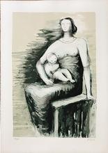 亨利•摩尔 - 版画 - Seated Mother and Child
