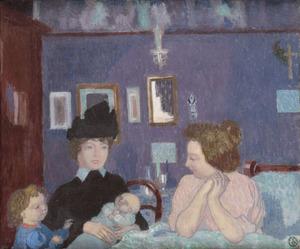 Maurice DENIS - Peinture - Visite dans la chambre violette