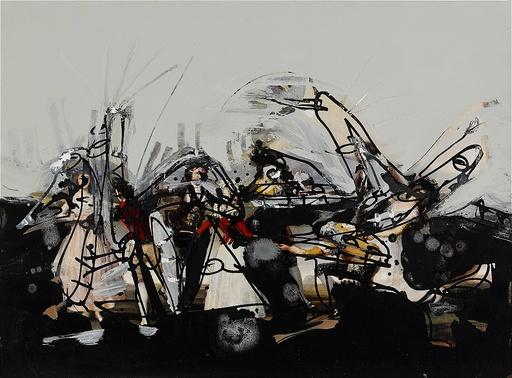Antonio SAURA - Drawing-Watercolor - Untitled