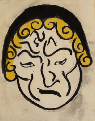 Henri GAUDIER-BRZESKA - Painting - Mask Head, c.1912