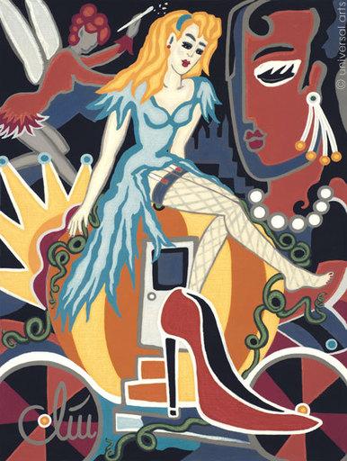 Jacqueline DITT - Peinture - Cinderella's High Heel