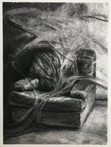 Marie DONNEVE - Drawing-Watercolor - « Rémanence »