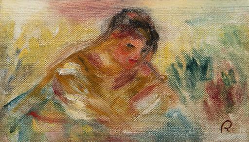 Pierre-Auguste RENOIR - Peinture - Buste de femme - fragment