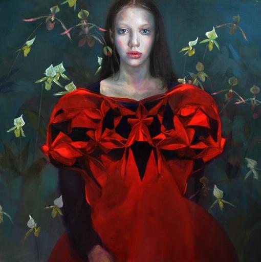 Sophie MORISSE - Painting - Robe orchidée