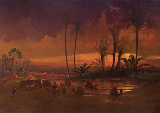 Ippolito CAFFI - Gemälde - Carovana nel deserto