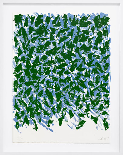 昆特•约克 - 版画 - Schwebend blau-grün