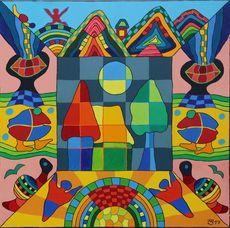 Michael JANSEN - Gemälde - Die Kraft der Sonnentrahlen