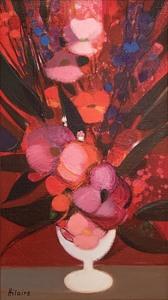 Camille HILAIRE - Painting - Petit bouquet rose