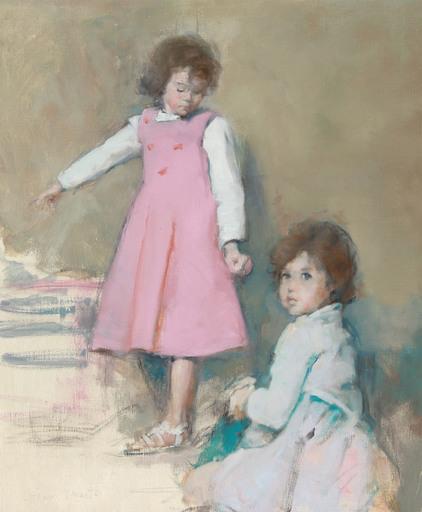 Antoine VINCENT - Gemälde - Les deux sœurs