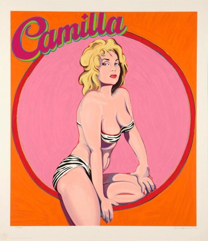 Mel RAMOS - Druckgrafik-Multiple - Camilla Queen of the Jungle Empire
