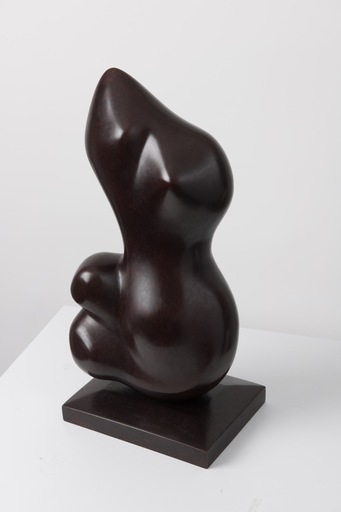 Alfred BASBOUS - Sculpture-Volume - Seated Woman - 1997