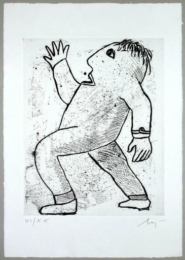 Enrico BAJ - Estampe-Multiple - Untitled