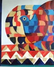 Simon AVISSAR - Pittura - Bird Composition