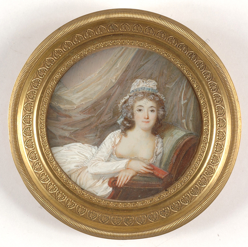 "Jean Antoine LAURENT - Miniatur - ""Beauty with bare breasts"", important miniature on ivory!!,"