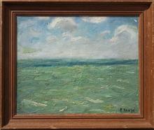 Edmond Amédée HEUZÉ - Peinture - LA MER