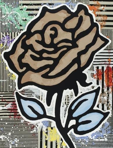 Donald BAECHLER - Grabado - The brown rose