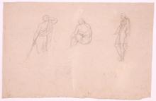 """Johann Evangelist SCHEFFER VON LEONHARDSHOFF - Drawing-Watercolor - """"Studies"""", 1810s"""