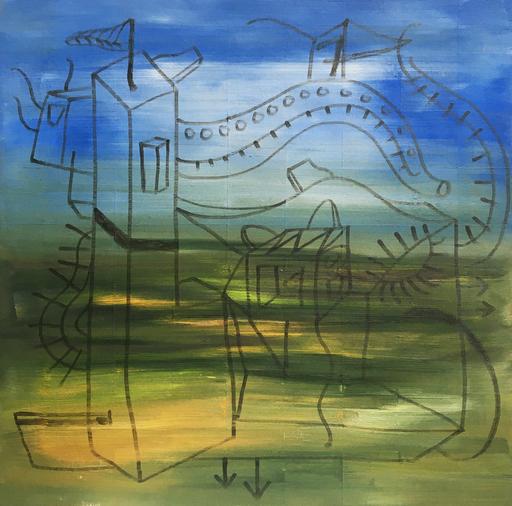 Diego MOVILLA - Peinture - Sans titre, série Muga 4/6