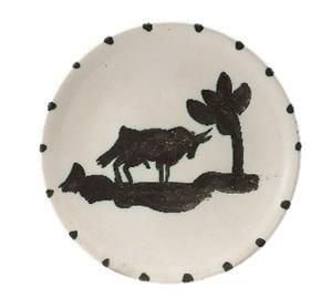 Pablo PICASSO - Ceramic - Taureau sous l'arbre
