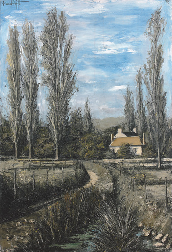 Bernard BUFFET - Painting - Sainte-Marie, le petit chateau, Yonne