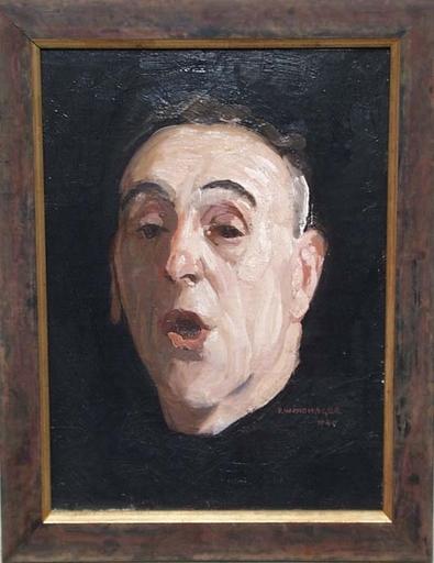 "Franz WINDHAGER - Gemälde - ""Self-portrait"" by Franz Windhager"
