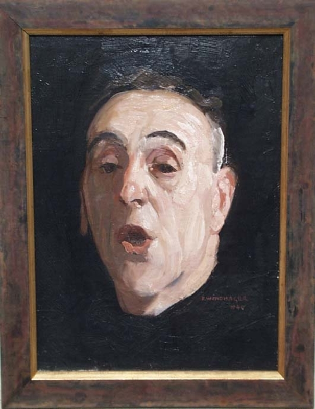 """Franz WINDHAGER - 绘画 - """"Self-portrait"""" by Franz Windhager"""