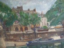 Isaac DOBRINSKY - Pintura - Landscape in Paris