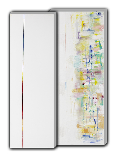 Florence SOLVAY - Painting - Dyptychon-installation-2010-40x120-50x120-oe