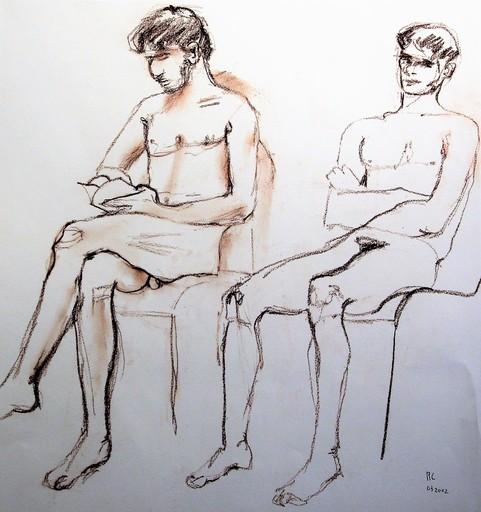 R.CAVALIÉ - Drawing-Watercolor - N.R. 133