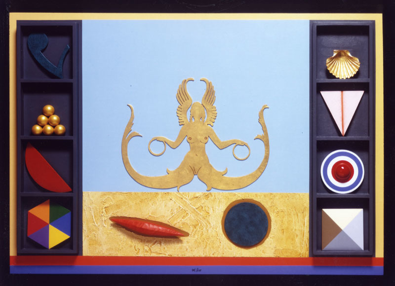 Lucio DEL PEZZO - Painting - SIRENA SIMBOLICA