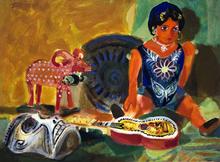 Romeo TABUENA - Painting - Juguetes Mexicanos