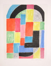Sonia DELAUNAY-TERK - Print-Multiple - Composition with Black Arc