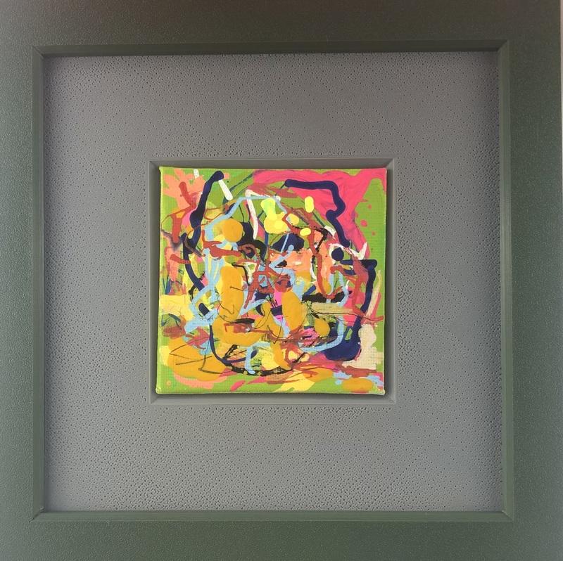 Nicole LEIDENFROST - Gemälde - Zwei Gesichter