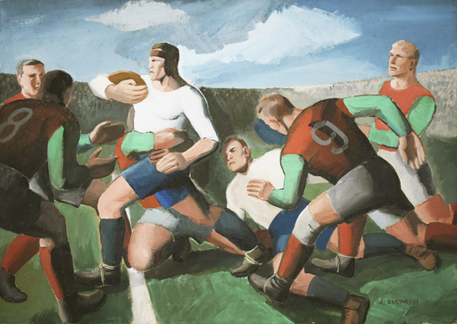 Rino ALBERTARELLI - Pintura - Rugby