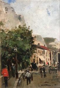 Théo VAN RYSSELBERGHE - Peinture - Scène de rue (Douvres)