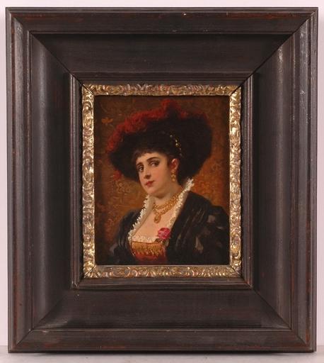 "Anton EBERT - Gemälde - ""Lady in Renaissance Costume"""