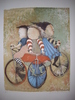 Graciela RODO BOULANGER (1935) - TRICYCLES. HAND SIGNED BY ARTIST