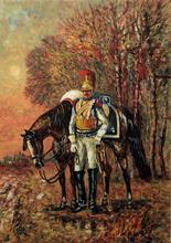 Giovan Francesco GONZAGA - Grabado - L'avamposto granatiere e cavallo