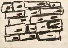 Jannis KOUNELLIS - Drawing-Watercolor - Senza titolo