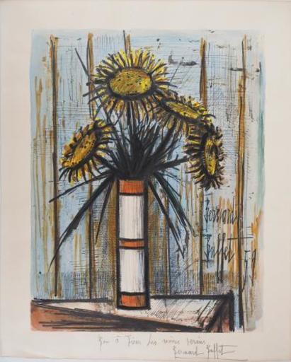 Bernard BUFFET - Stampa Multiplo - Sunflower bouquet