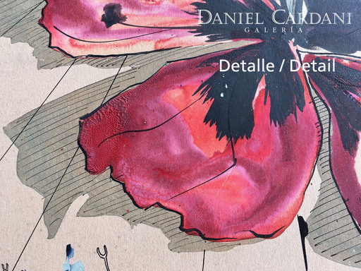 Salvador DALI - Dibujo Acuarela - Le Rayonnement de la France